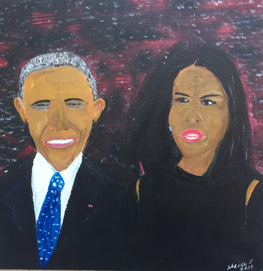 Barack Obama, Michelle Obama par jeromesaliouart